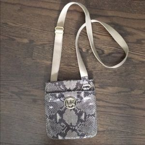 Michael Kors snake cross body bag